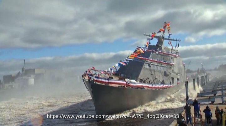 Come varare una nave....di fianco