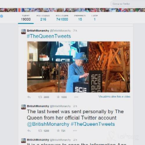 Regina Elisabetta II sempre più social va su Twitter: ...