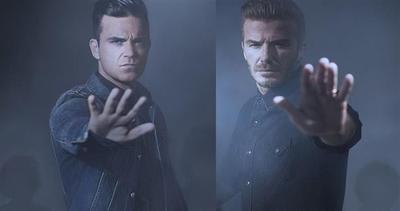 Beckham e Robbie Williams insieme per i bambini