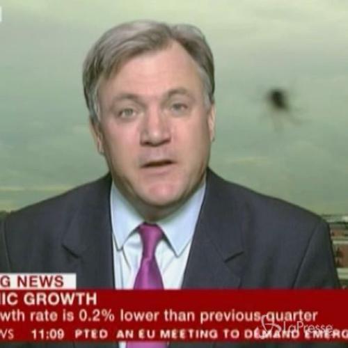 Ragno davanti alla telecamera durante il tg della BBC