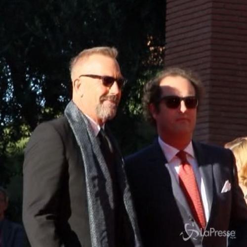 Kevin Costner al Roma Film Fest con la figlia Lily
