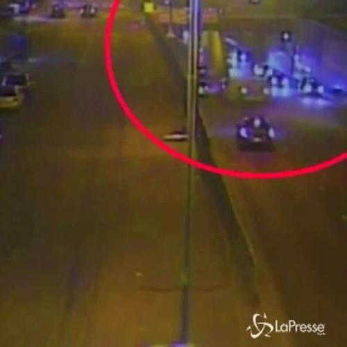 Spettacolare incidente di aspirante killer della strada: ...
