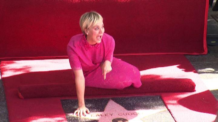 Una stella per Kaley Cuoco, star di Big Bang Theory