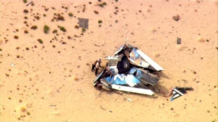 Si schianta navicella Virgin Galactic, morto un pilota