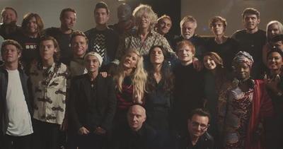 Bono, Chris Martin e Rita Ora tra le star di Band Aid