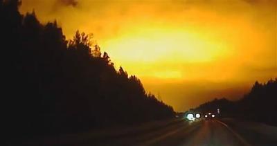 Palla di fuoco alla 'X-Files' nei cieli russi