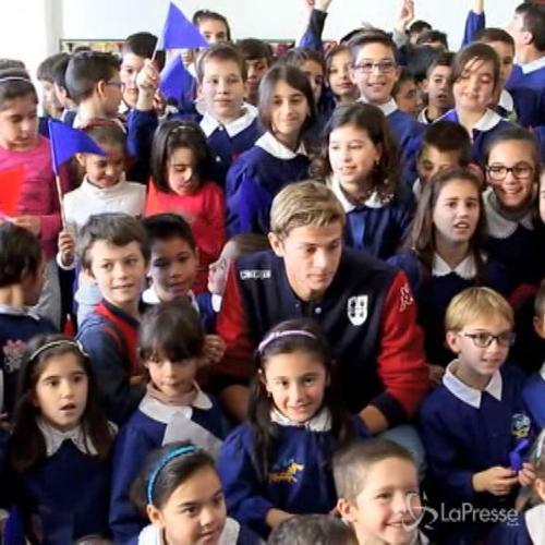 Longo incontra bambini scuola elementare Selergius
