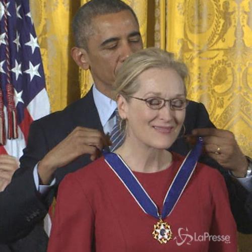 Stevie Wonder e Meryl Streep vincono Medaglia Presidenziale ...