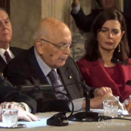 Napolitano: Programma governo vasto per cambiamento ...