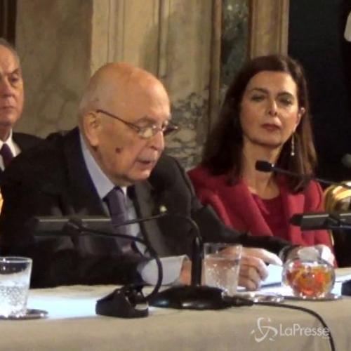 Napolitano: Voto anticipato o scissione evoca spettro ...