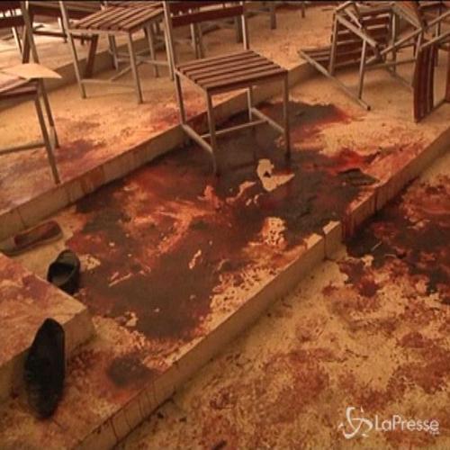Ecco la scena dell'orrore nella scuola in Pakistan: ...