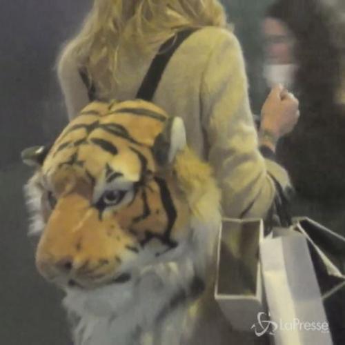 Elenoire cuor di tigre: la Casalegno a passeggio con una ...