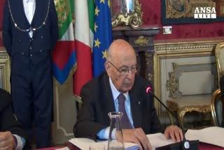 Napolitano conferma: imminente fine mio mandato
