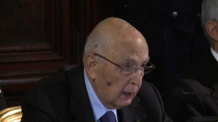 Napolitano annuncia: imminente la conclusione del mio mandato