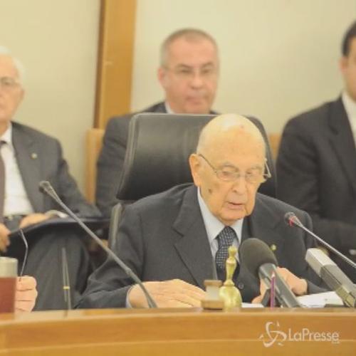 Napolitano: Obiettivo è recupero trasparenza e efficienza ...