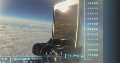 Ecco cosa succede se si fa cadere l'iPhone dallo spazio     ...