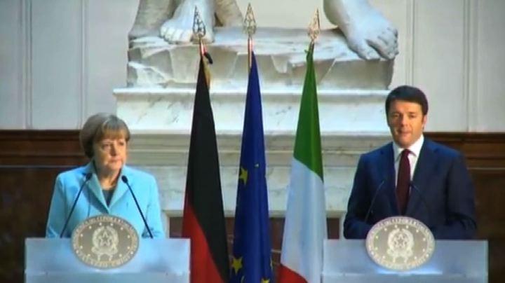 Italia-Germania, amicizia ai piedi del David di ...