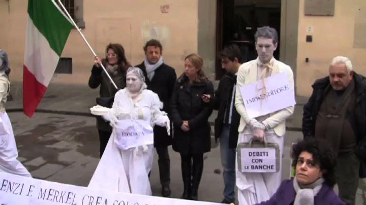 """A Firenze """"monumento alla povertà"""" contro vertice ..."""