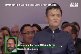 A Davos incanta il 're' cinese dell'e-commerce, Jack Ma     ...