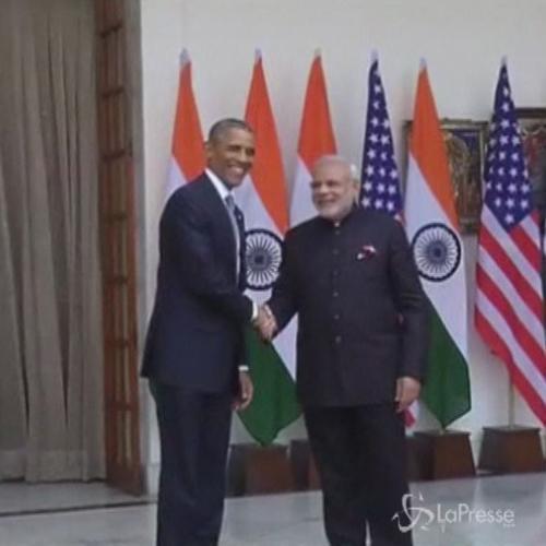 Obama a Nuova Delhi per visita di tre giorni, incontro con ...