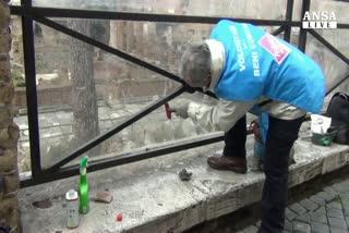 Operazione Retake per pulire Roma