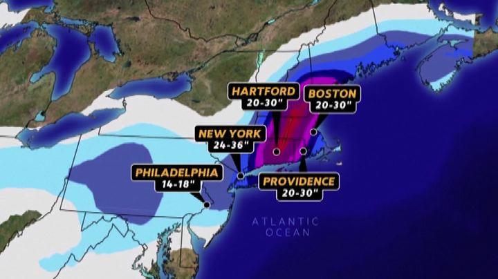 New York si prepara a una tempesta di neve di portata ...