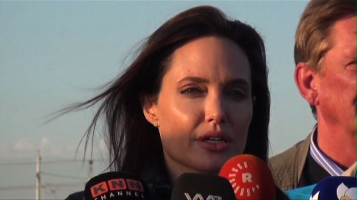 Angelina Jolie tra i rifugiati in Iraq