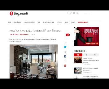 Venduto l?attico di Frank Sinatra per 5 milioni di dollari  ...