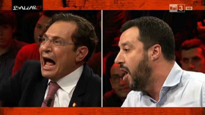 Ballarò, violento scontro in tv tra Salvini e Crocetta     ...