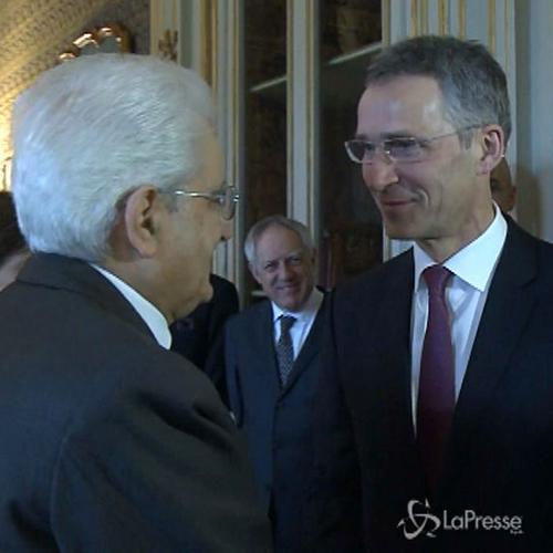 Mattarella incontra Segretario generale della Nato ...