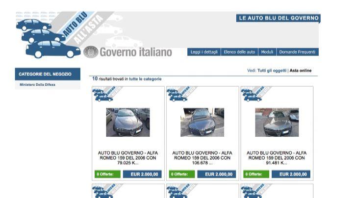 Nuova asta di auto blu: 33 vetture tra Alfa, Bmw, Fiat e ...