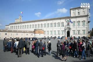 Musei gratis, folla al Quirinale