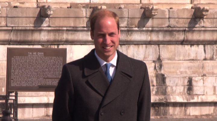"""Il principe William nella Città proibita dice """"Ni Hao"""""""