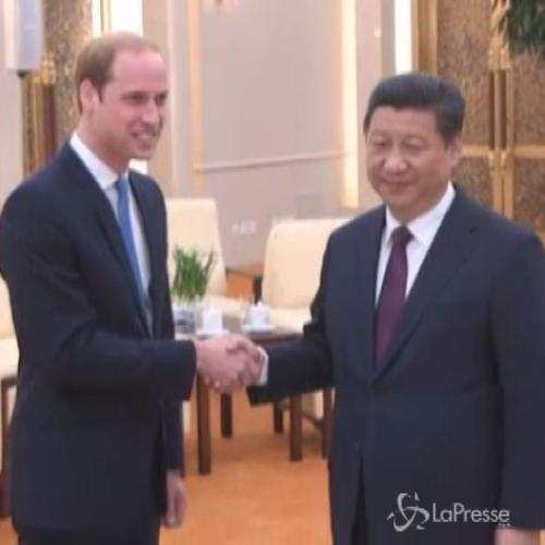 Incontro storico fra Xi Jinping e il principe William
