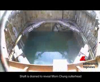 La talpa meccanica rimossa dal tunnel