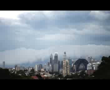 Sydney, la tempesta è in time lapse