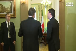 Renzi a Kiev, incontro con Poroschenko