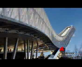 A Oslo l?attico è in cima ad un trampolino da sci