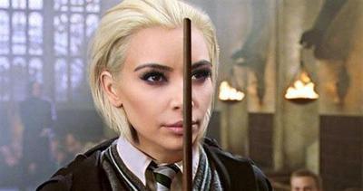 Kim Kardashian bionda sembra un cattivo dei film