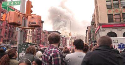 Esplosione di gas a New York, edifici in fiamme e 19 feriti ...