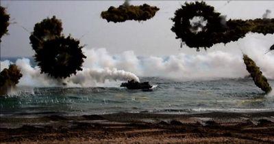 Corea del Sud: spettacolare sbarco militare con i marines ...