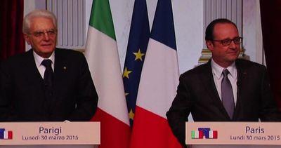 Mattarella da Hollande, uniti sulla crescita e contro ...