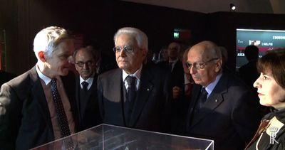Mattarella e Napolitano alla mostra per i 90 anni di ...