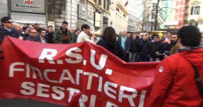 Fincantieri, sciopero e manifestazione degli operai a ...