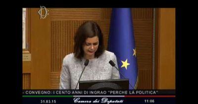 Boldrini rende omaggio a Ingrao: sua passione politica vera ...