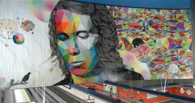 Il chitarrista Paco de Lucia su un murale di 30m2