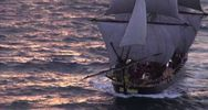 L'Hermione sull'Oceano Atlantico a vele spiegate