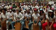 Percussionisti da guinness dei primati a Lima