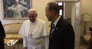 Il Papa incontra Ban Ki-Moon su clima, ambiente e migranti  ...