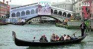 Iniziata copertura cantiere restauro Ponte Rialto Venezia   ...